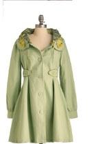 chartreuse modcloth coat