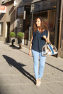 Light-blue-zara-jeans-navy-bimba-lola-bag-navy-mango-blouse-h-m-necklace