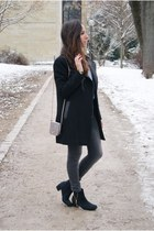 black biker studded BLANCO coat - black River Island boots