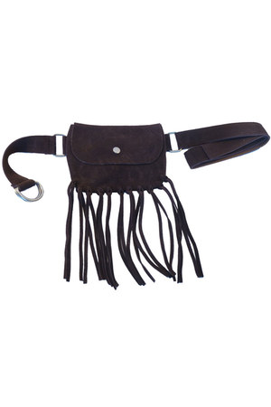 leather fringe Accessory Foundry belt