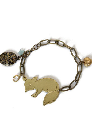 brass charms bracelet