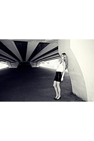 H&M shoes - H&M bag - Mango top - H&M skirt