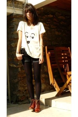 SANDRO shirt - Mango shorts - Topshop boots