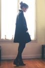 Black-maje-coat-black-h-m-tights-gray-jonak-shoes