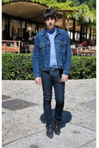 Levis jacket - united colors of benetton shirt - april 77 jeans - Topman shoes