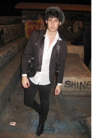 All Saints boots - urban outfiters hat - H&M shirt - Topman jacket - april 77 je