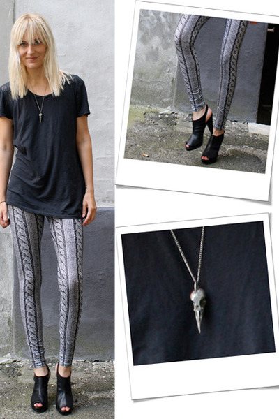 weekday leggings - H&amp;M shoes - whyred t-shirt - vintage from Ebay necklace