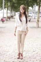 Zara heels - Zara blazer - Miss Selfridge blouse - Zara pants - asos necklace