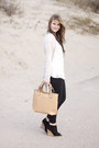 Reiss-top-bershka-jeans-romwe-bag-zara-wedges-zara-cardigan