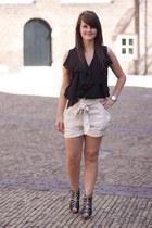 H&M shorts - asos blouse - RARE heels
