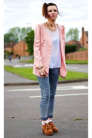 Sammydresscom necklace - Sammydresscom boots - Primark jeans