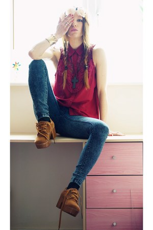 Sammydresscom boots - Internacionale jeans - Sheinsidecom shirt