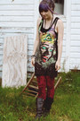 Drop-dead-clothing-dress-drmartens-boots-velvet-romwe-leggings