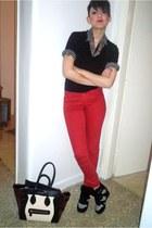 red Bershka glasses - black H M glasses - heather gray Combo socks