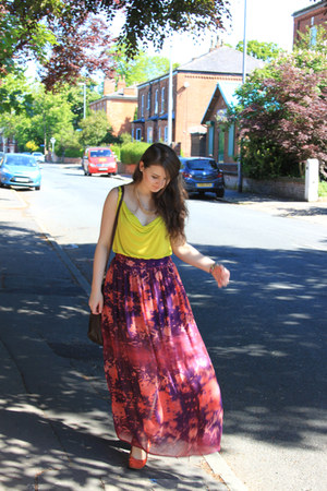 new look skirt - H&M top - Primark flats