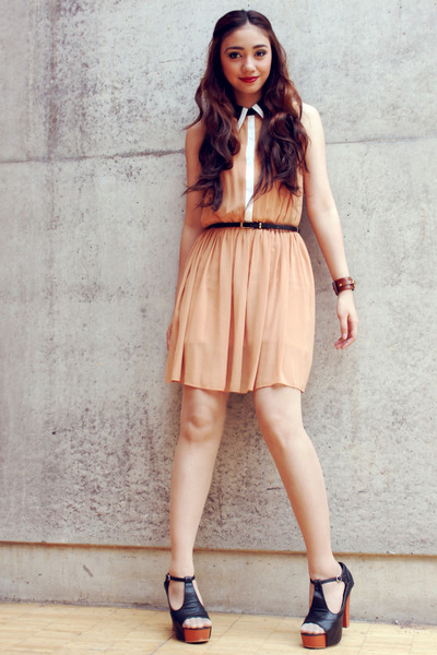 light orange Primark dress