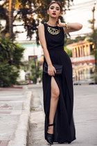 black split-leg inlovewithfashion suit