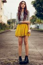 Mustard-printed-woakaocom-skirt