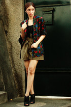 dress - Kasper blazer - high-waisted random shorts