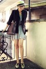 Neutral-brogues-custom-made-shoes-periwinkle-floral-from-bazaar-dress-mustar