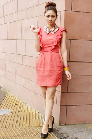 bubble gum collar Bedazzle Accessories accessories - coral Topshop dress