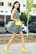 yellow Zara bag - yellow Spring heels
