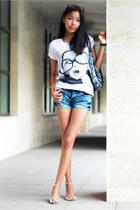 silver Zara sandals