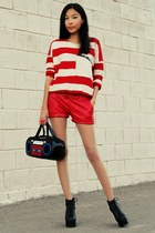 red Udobuy sweater - black Jeffrey Campbell boots