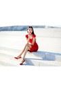 Red-jimmy-choo-shoes-red-celebindress-dress-ruby-red-daniel-wellington-watch