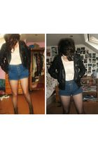 blue Topshop shorts