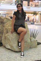 Forever 21 vest - American Aparel shirt - Elemenio shorts - Prada sunglasses