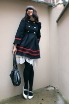 Pret A Portobello coat - self-made skirt - Zara accessories - second-hand shoes