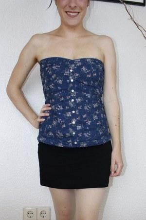 vintage top - H&M skirt