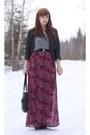 Black-seychelles-boots-maroon-pacsun-dress-black-bongo-thrifted-jacket