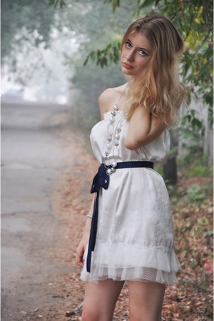 white DIY dress