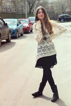 black H&M boots