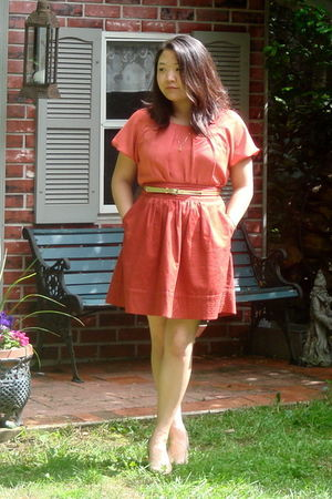 pink from Francescas Collections shirt - pink Odille Anthropologie skirt - gold