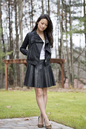 Miss Wu skirt - Rick Owens jacket
