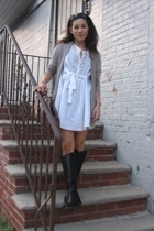 BDG sweater - Zara dress - Steve Madden shoes
