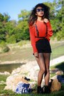 Black-chictopia-shop-boots-red-j-crew-sweater-black-shorts