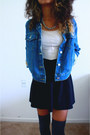 Blue-jean-jacket-levis-jacket-neutral-h-m-divided-dress