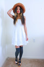 White-dress-orange-hat-charcoal-gray-windsor-socks