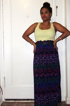 worn as a skirt xhilaration dress - light yellow Forever 21 top