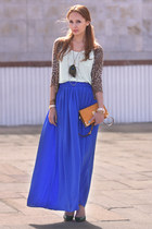 Electric Blue & Leo Print