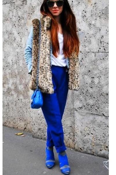 Синие брюки фото 12