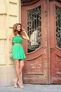 Green-silk-no1-dress-beige-studded-no1-heels