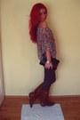 Brick-red-leather-random-boots-charcoal-gray-plain-stradivarius-leggings