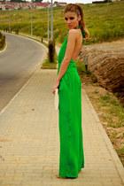 tan clutch No1 bag - chartreuse full body silk No1 romper