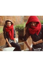 red big chic scarf accessories