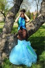 Sky-blue-roxana-simon-dress-chartreuse-add-ons-rs-dress-dark-brown-insert-rs